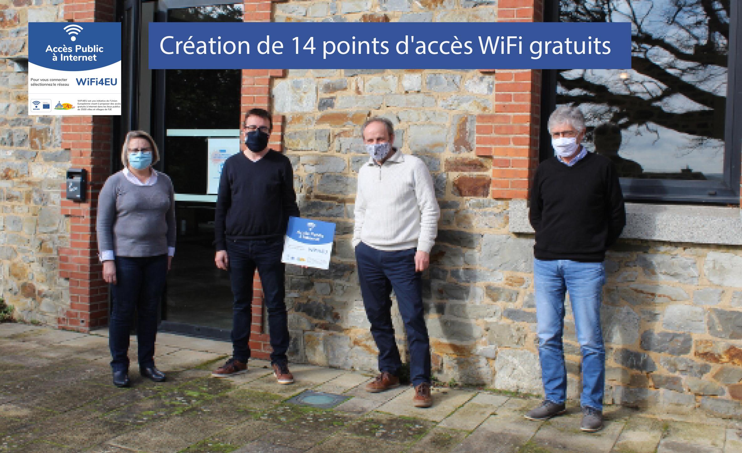 WiFi4EU : Création de 14 points d'accès WiFi gratuits