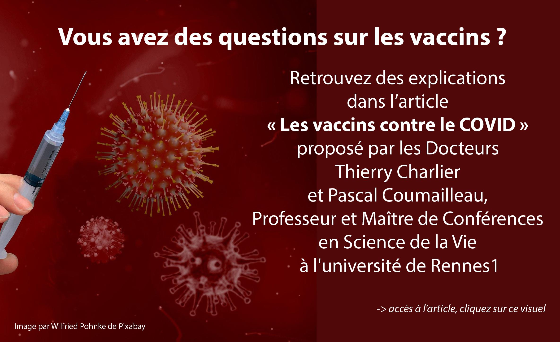 Vous avez des questions sur les vaccins ?