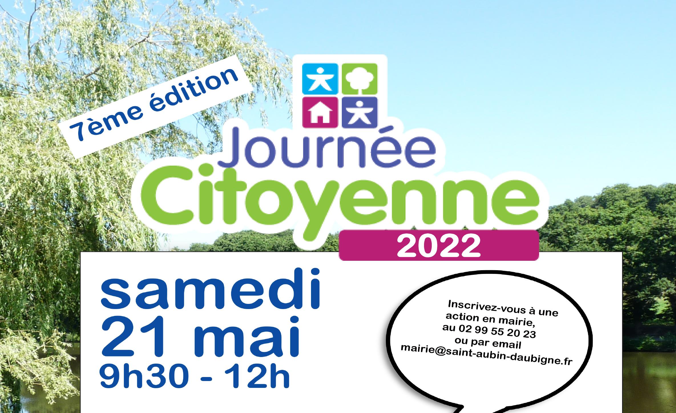 Journée citoyenne samedi 29 mai 2021